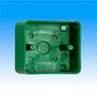 RGL 2405SM-CH  40mm Green Plastic Back Box
